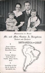 Missionaries to Brazil, Mr. and Mrs. Gustav A. Bergstrom, Robert and Richard