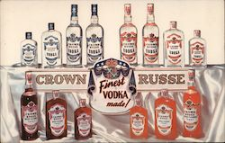 Crown Russe Vodka Postcard