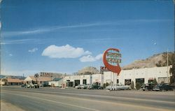 Western Cafe, Service Station, Garage and Motel Postcard