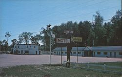 Greetings From Lor-Lee Motel & Texaco Service Station Postcard