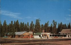 Pete's Motel, Laundromat, & Sinclair Products Postcard