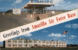 Greetings From Amarillo Air Force Base Postcard