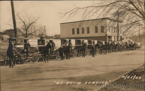 1922 Summe Dairy Co Delivery Wagons At Your Service Kansas City Missouri