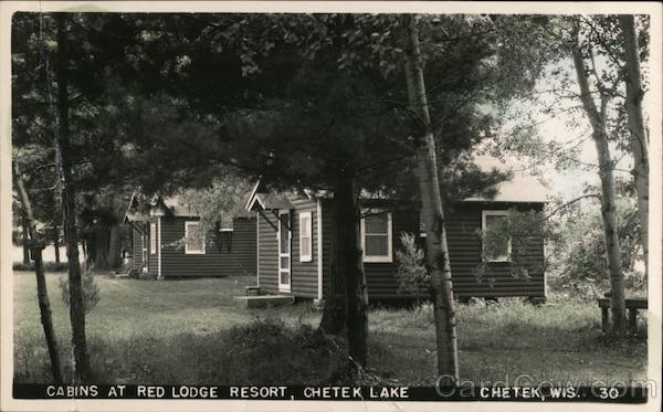 Cabins at Red Lodge Resort, Chetek Lake Wisconsin