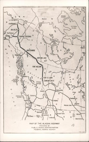 Map of the Alaska Highway Maps