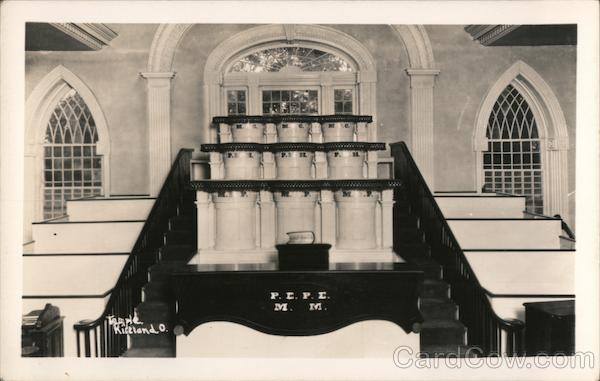 Inside of Mormon Temple, 1933 Kirtland Ohio