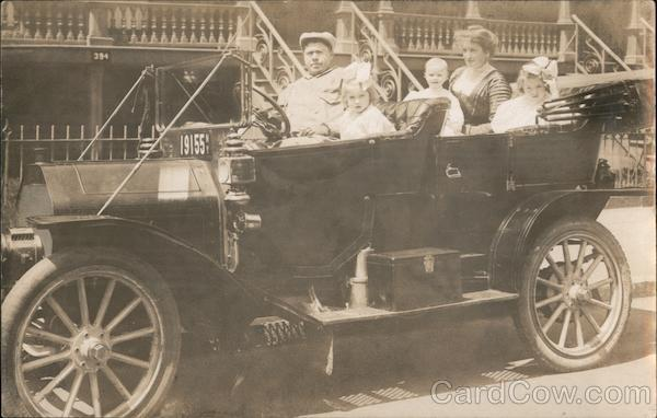 Family Posing in Touring Car New York Cars