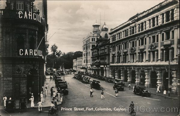 Prince Street, Fort, Colombo, Ceylon Southeast Asia