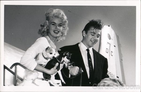 Jayne Mansfield & Micky Hagarty (Husband) 1956 Actors