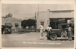 Del Rio's Only Close In Tourist Camp Mobil Oil