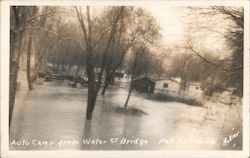 Feb 27, 1940 Auto Camp From Water St. Bridge, Flooded
