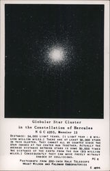 Globular Star Cluster in the Constellation of Hercules, NGC 6205, Messier 13