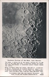 Southern Portion of the Moon, Last Quarter