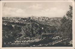 General View of Bethlehem, West Bank