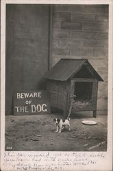 Beware of the Dog Postcard
