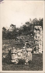 Carved Stone Figures Postcard
