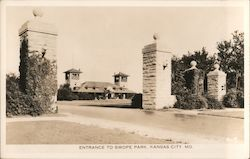 Entrance to Swope Park Postcard