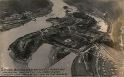 Air View of Bonneville Power and Navigation Dam