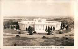 Memorial Amphitheater From the Mast of USS Maine, Arlington National Cemetery