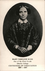Mary Caroline Rudd, Oberlin College Postcard