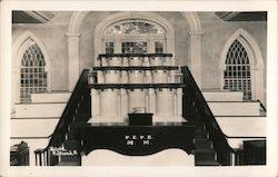 Inside of Mormon Temple, 1933 Postcard