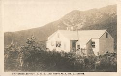 Greenleaf Hut, AMC and North Peak Mt. Lafayette Postcard