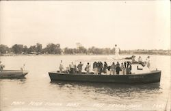 Mac's Peach Fishing Boat Postcard