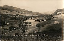 Up the Valley Pownal, VT Postcard