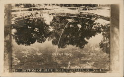Bottom of The Blue Hole Postcard
