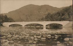 Mohawk Trail Bridge Across the Deerfield Postcard