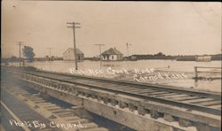 Pawnee Creek Flood, Railroad Tracks Near Larned