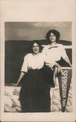 Two Women at Springbrook Park Photo Booth