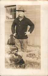 1917 WWI Snapshot of Julius, Camp Lewis