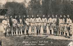 House of David Ball Team Postcard