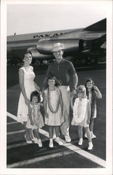 Pat Boone and Family at Airport, 1961