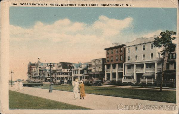 Ocean Pathway, Hotel District, South Side Ocean Grove New Jersey