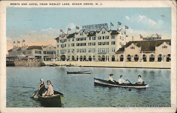 North End Hotel from Wesley Lake Ocean Grove New Jersey