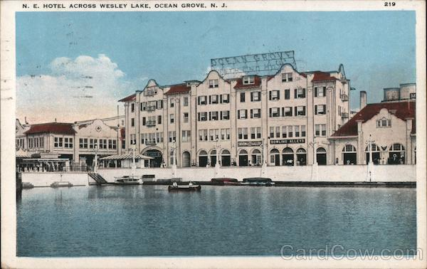 Hotel Across Wesley Lake Ocean Grove New Jersey