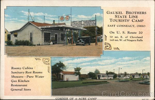 Gaukel Brothers State Line Tourists' Camp East Conneaut Ohio