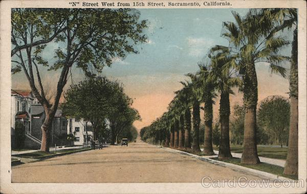N Street West from 15th Street Sacramento California