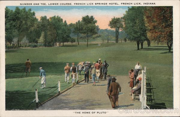 Number One Tee, Lower Course, French Lick Springs Hotel Indiana