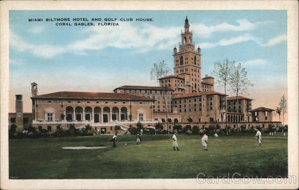 Miami Biltmore Hotel and Golf Club House Coral Gables Florida