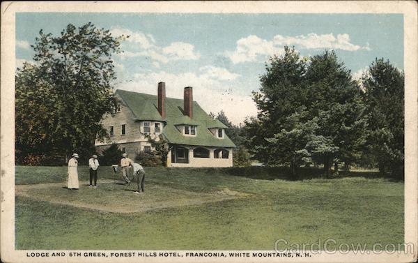 Lodge and 6th Green, Forest Hills Hotel Franconia New Hampshire