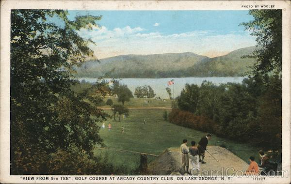 View From 9th Tee, Golf Course at Arcady Country Club Lake George New York