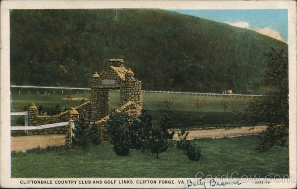 Cliftondale Country Club and Golf Links Clifton Forge Virginia