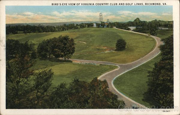 Bird's-Eye View of Virginia Country Club and Golf Links Richmond