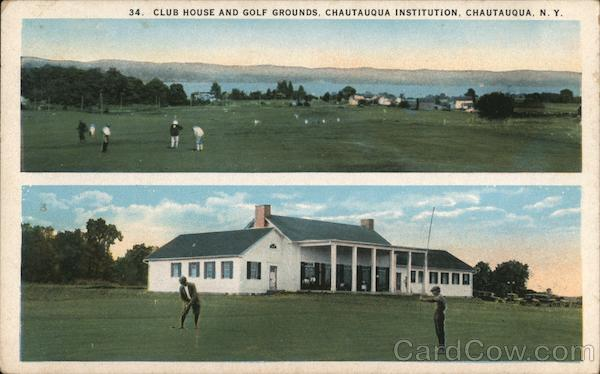 Club House and Golf Grounds, Chautauqua Institution New York