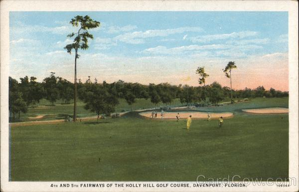 4th and 5th Fairways of the Holly Hill Golf Course Davenport Florida