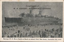 Burning of SS Morro Castle on Beach at Asbury Park