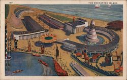 The Enchanted Island, A Century of Progress Postcard